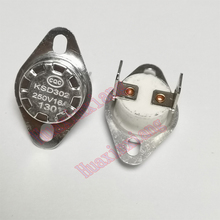 10PCS/Lot KSD302 Temperature Switch Thermostat Sensor Ceramic 16A/250V Normally Close 40-150 Degree