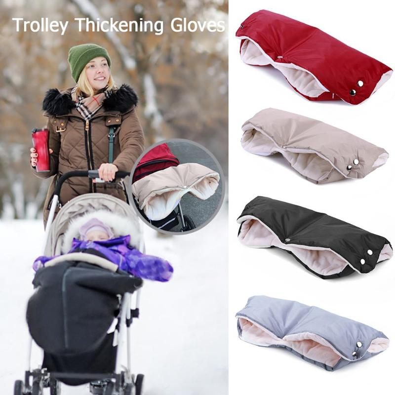 Winter Pram Stroller Mittens Hand Cover Buggy Muff Glove Cart Accessories Kids Pushchair Hand Cover Fur Fleece Gloves Mittens
