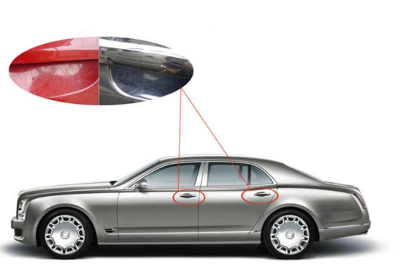 2018 جديد مقبض باب السيارة ملصقات غشاء واقي لمرسيدس بنز A180 A200 A260 W203 W210 W211 AMG W204 C E S CLS CLK CLA SLK