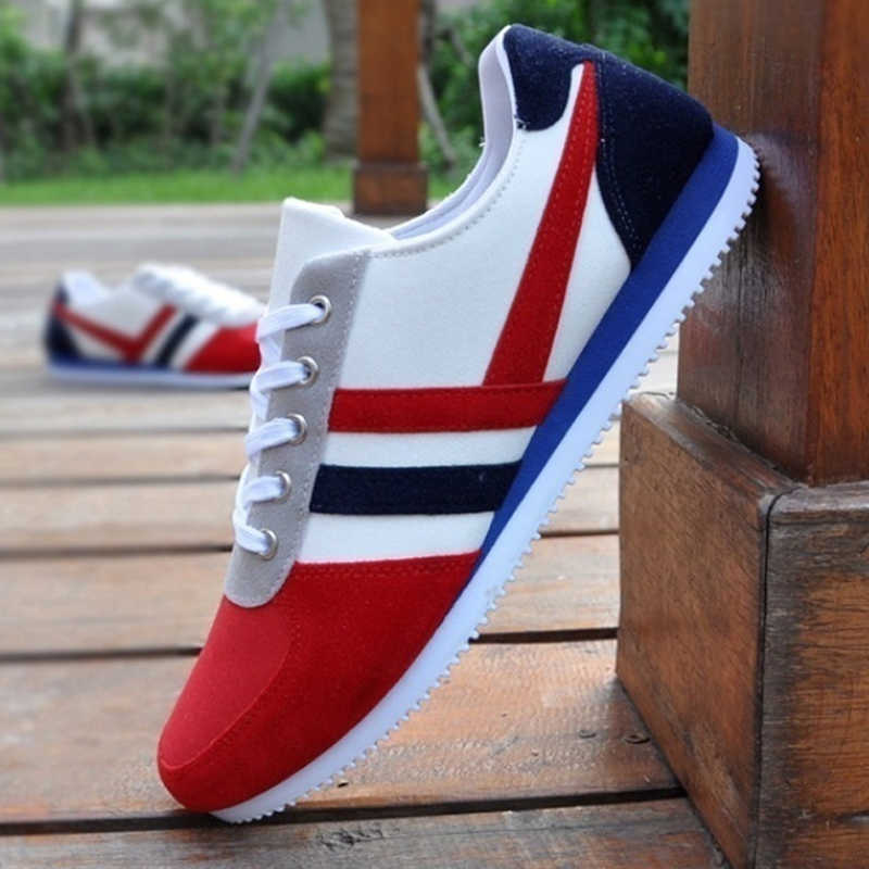 Şık marka moda erkek Lace Up spor loafer'lar gündelik ayakkabı düz kanvas ayakkabılar Dropshipping rahat schoenen