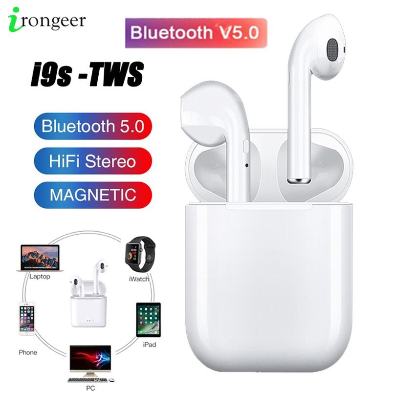 <font><b>i9s</b></font> Tws Wireless <font><b>Bluetooth</b></font> <font><b>5.0</b></font> <font><b>Earphone</b></font> Mini Earbuds With Mic Charging Box Sport Headset For iPhone 11 Pro Huawei Smart Phone image
