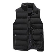 Veste d'hiver pour homme, veste sans manches, matelassée en coton, grande taille, tendance, K126, tendance manteaux décontractés