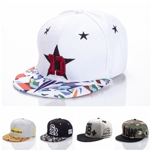10 Styles Adult Snapback Caps Letter Embroidered Baseball Cap