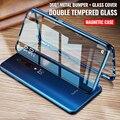 360 ° магнитные чехлы с закаленным стеклом для OnePlus Nord 9 8 7 6 iPad Pro Чехол для OnePlus 8T, 7T, на возраст 6, 8, 7, 6, металлическая крышка Для мужчин Для женщи...
