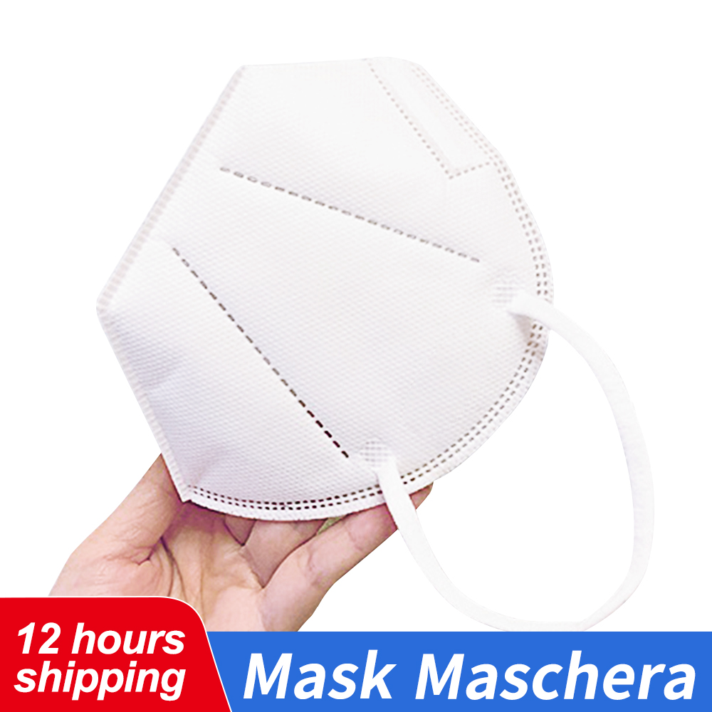 IN STOCK Multi Layer Mask For Adult Unisex Non-woven Disposable Masks Face Mouth Mask Safety Thickened Breathable Filter Masks
