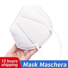 Op Voorraad Multi Layer Masker Voor Volwassen Unisex Non Woven Wegwerp Maskers Gezicht Mond Masker Veiligheid Verdikte Ademend Filter maskers