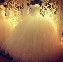 2015 Vestidos de Novia Luxury Princess Sweetheart Pearl Beaded Tulle Ball Gown Wedding Dress bride dresses