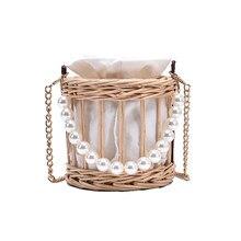 Sac à main tissé à perles pour femmes, en rotin, bord de mer, vacances, nouvelle collection 2020