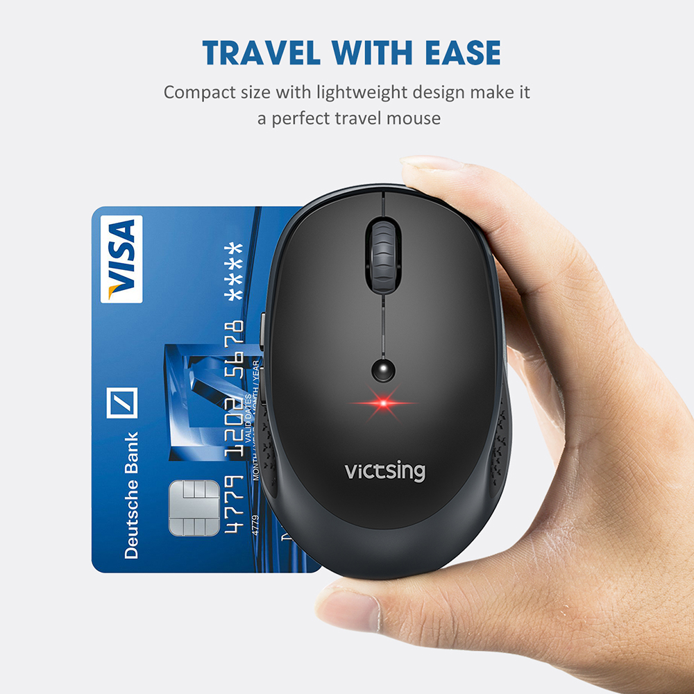 Image 5 - VicTsing PC254 Wireless Mouse 2400DPI Adjustable Portable Bluetooth Mouse 2.4Ghz USB Optical Cordless Mice For PC Tablet LaptopMice   -