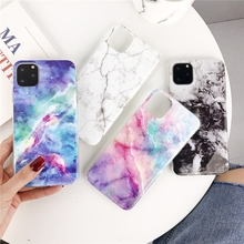 ottwn Simple Marble Phone Case For iPhone 11 Pro Max X XS XR Xs Soft TPU Silicone Love Heart Cover 6 6s 7 8 Plus