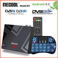 MECOOL K5 DVB T/T2Smart Tv Box Android 9,0 Amlogic S905X3 Dual WIFI LAN 10/ 100M Bluetooth 4,1 2GB 16GB Set Top BOX