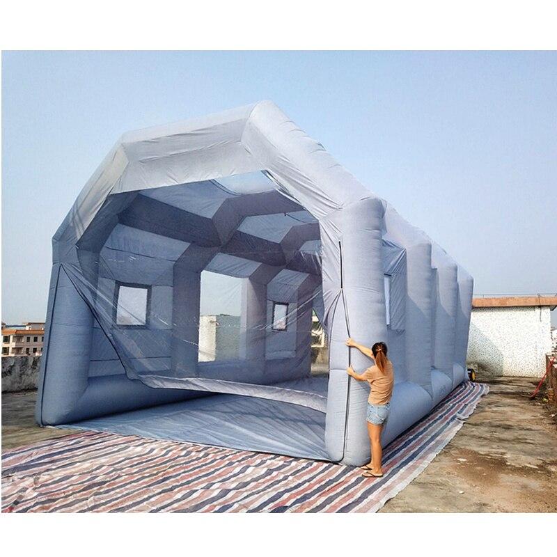 Meilleure cabine de pulvérisation de peinture automatique gonflable Mobile de Carcoon faite sur commande avec des souffleurs d'air