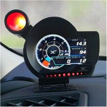 OBD2 Lufi XF automatyczny miernik gauge monitor prędkość paliwa ciśnienie oleju samochód cyfrowy wskaźnik temperatury oleju wody EXT angielska wersja