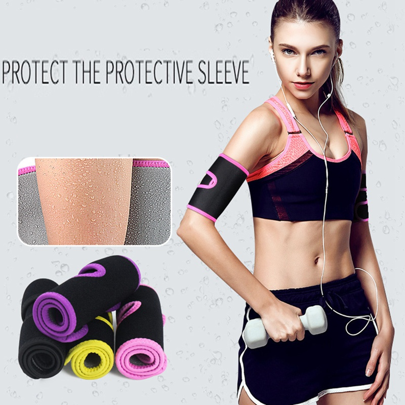 running - Arm Sleeve Wrap Ultra-thin Thermal Compression Sweating Slimming Band For Fitness Yoga Running Weight Loss