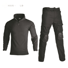 2019 New style G3 uniform shirt and pants airsoft painball outdoor hunting combat tactical military Free Pants Knee Pads