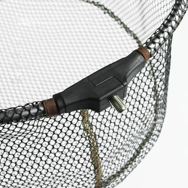 Hand Net Head Aluminum alloy 8mm Screw Folding Dip Net 35/40/45cm Gluing Net Outdoor Fishing Net Tool Accessories