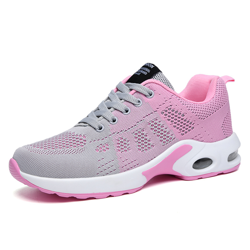 2020 New Outdoor Cushioning Pink Sneakers Women Running Shoes Sports For Jogging Female Air Cushion Trainers Big Size35-42
