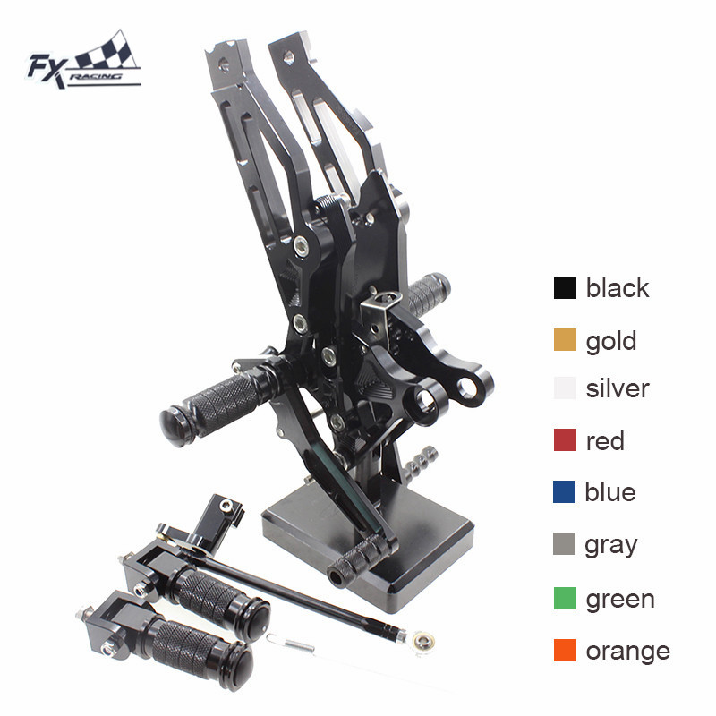 CNC Aluminum Adjustable Motorcycle <font><b>Rearset</b></font> Foot Peg Rear Set Footpeg Pedal Footrest For Honda Grom <font><b>MSX125</b></font> MSX 125 2012-2017 2013 image
