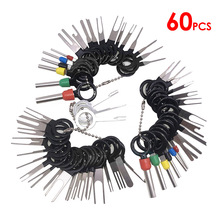 60 Pcs/set Car Terminal Removal Kit Wiring Crimp Connector Pin Extractor Puller Terminal Repair Professional Tools