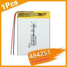 1 шт. 484251 1500 мАч 3,7 в питания литиевая батарея литиевая полимерная аккумуляторная батарея для MP3 MP4 GPS Оборудование для PSP MID Bluetooth головки