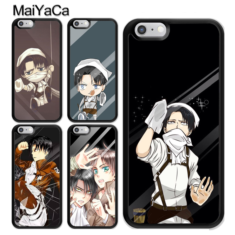 MaiYaCa Shingeki no Kyojin Levi in Glass Coque Accessories For iPhone 11 Pro MAX X XR