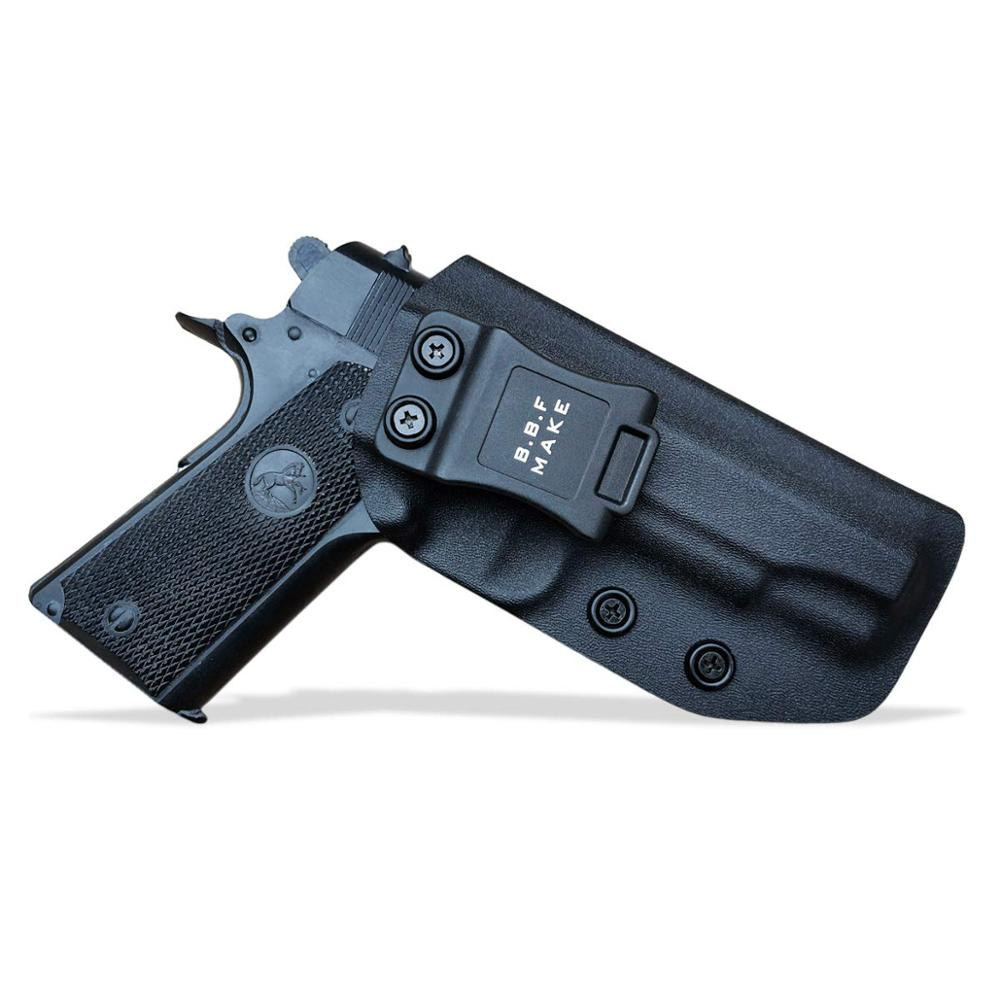 KYDEX IWB Gun Holster Colt Commander 1911 .45 9mm 4.25 / 4.5 Inch PT1911 Pistol Case Waistband Inside Carry Concealed Holster