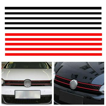 Car Strip Sticker Reflective Stickers Front Hood Grille Decals Car Styling Auto Decoration Fit for VW Golf 6 7 Tiguan Dropship image