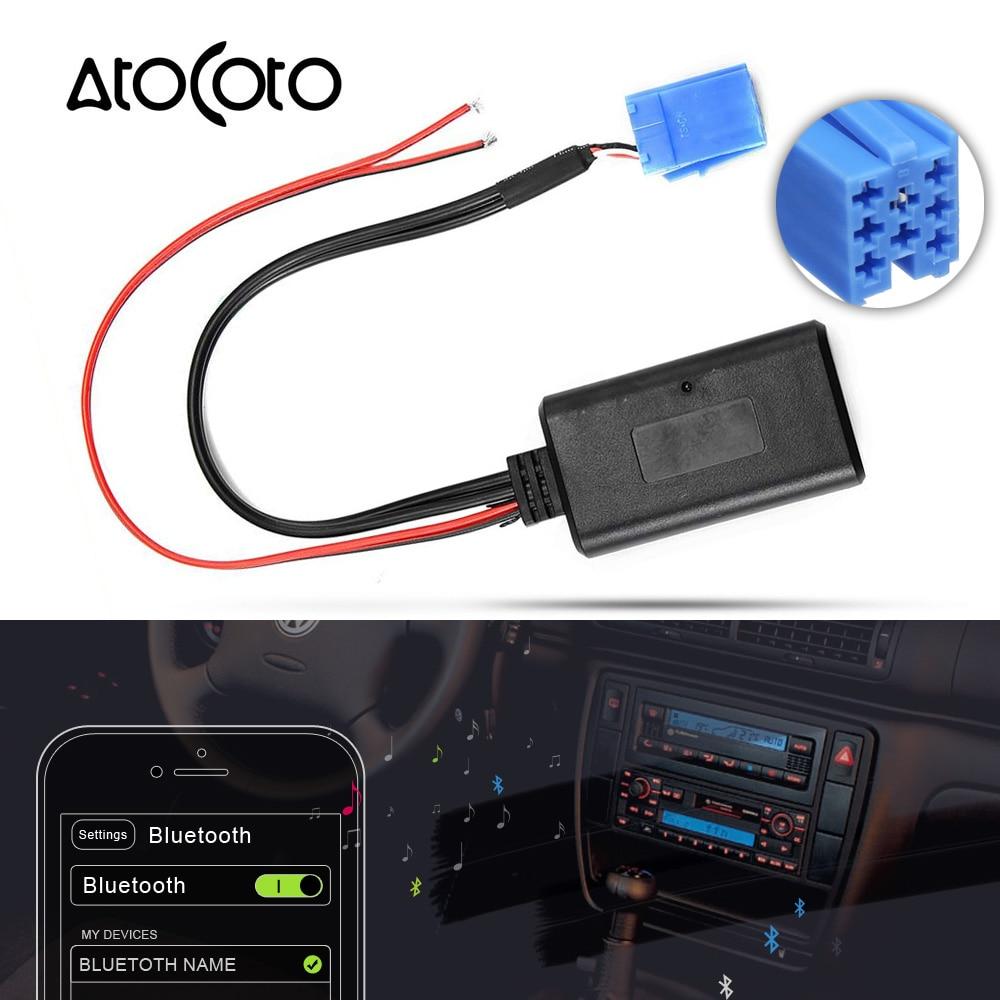 Автомобильный модуль Bluetooth 5,0, 8-контактный разъем MINI ISO, кабель AUX, адаптер для AUDI VW гамма-Хор 2, Симфония концерта Blaupunkt CD MFD Navi
