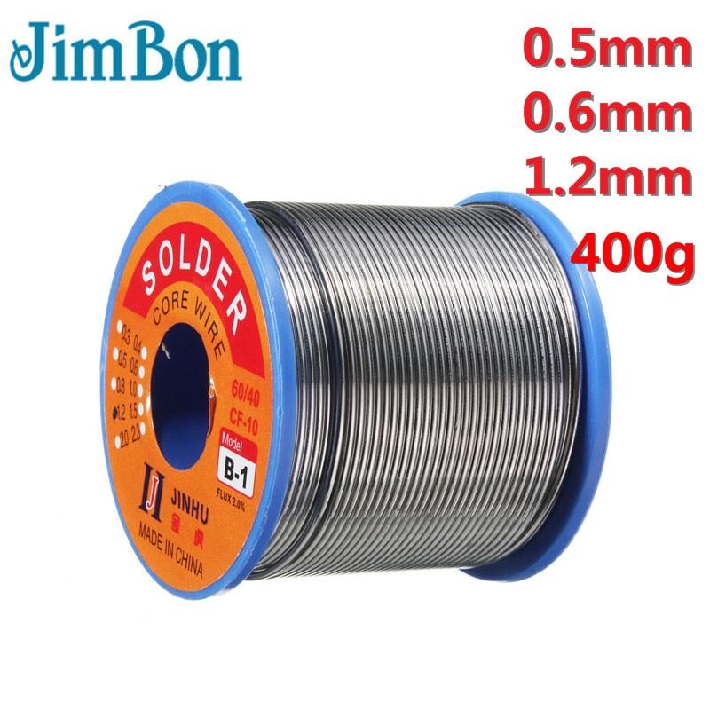 400g 1.2mm Welding Wire 60//40 Rosin Reel Soldering Lead Tin Percent 2.0 Solder