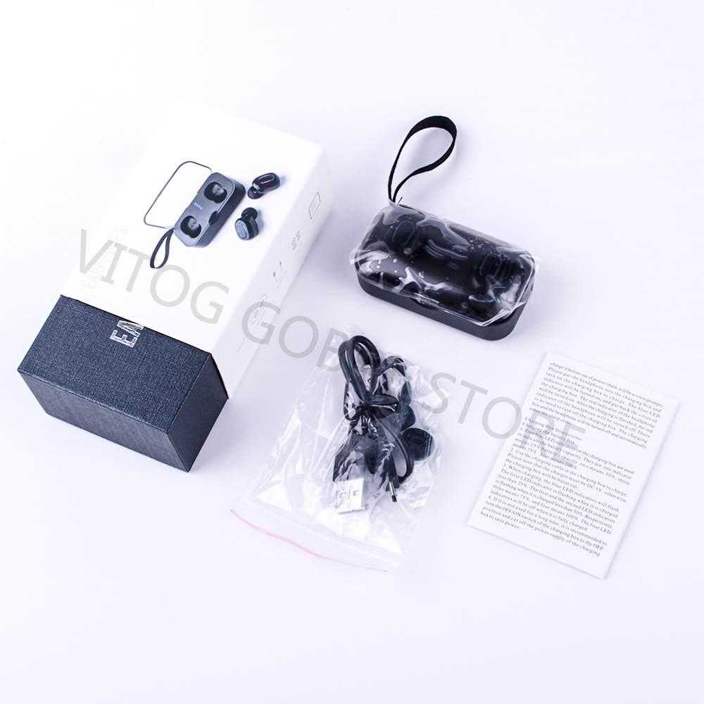 Mini Portable Bluetooth 5 0 Earphones TWS Wireless Headphone Handsfree Sports Earbuds Gaming Headset with mic charging box in Bluetooth Earphones Headphones from Consumer Electronics
