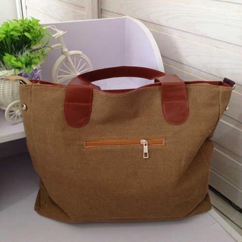 Femmes grande capacité toile maison stockage et Organization stockage sacs à main lettre fourre-tout sac à main sac à main à glissière sac à bandoulière