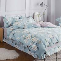 Funda de almohada de sábana tipo edredón  juego de cama con estampado de queen  doble  individual  tamaño king  100% de algodón
