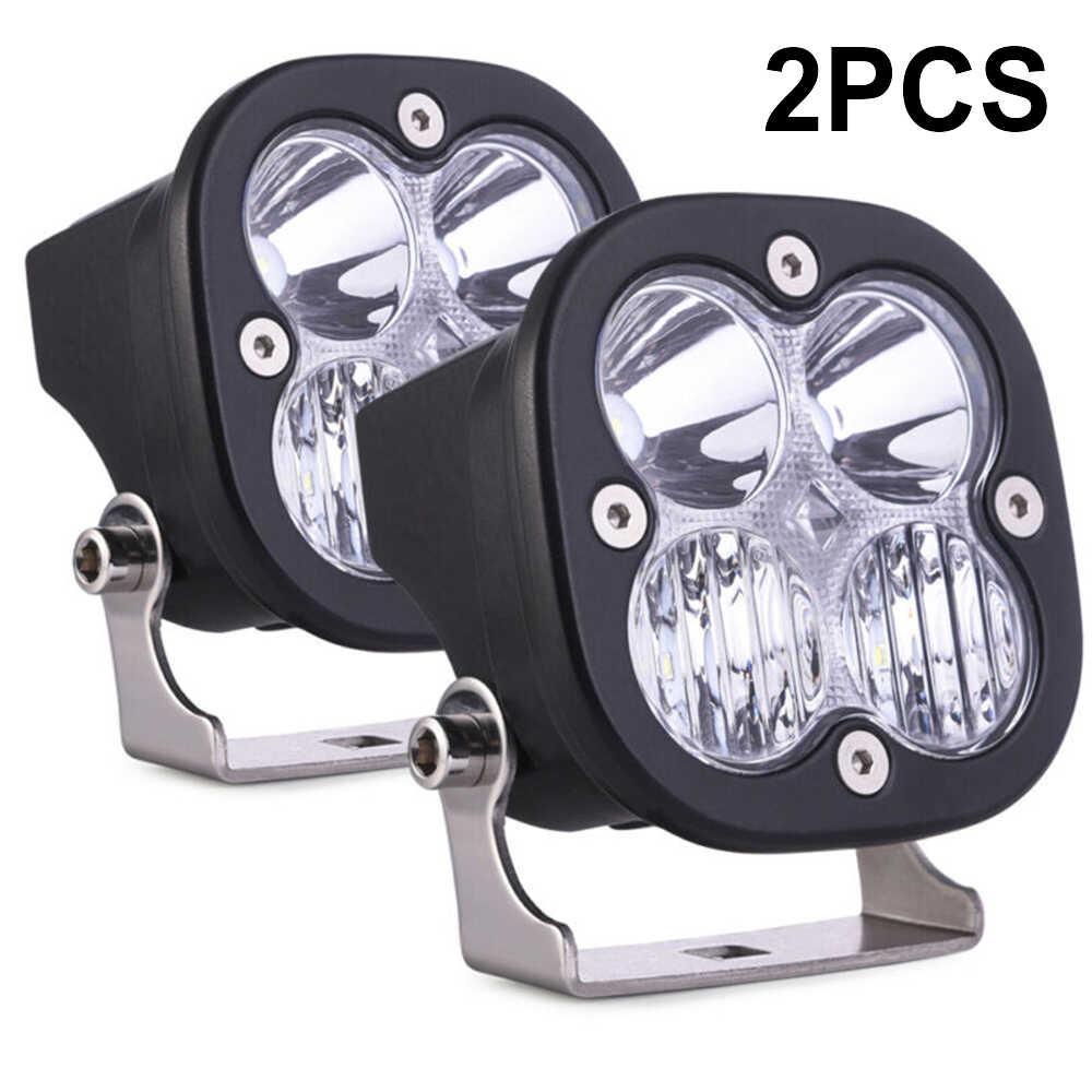 new and high quality 2pcs 20W Car ATV LED Driving Lights Lamp Set Spot Flood Off Road Working 6000K