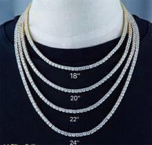 Hip hop jóias de cristal homens chunky colar iced zircon cúbico miami ligação cubana corrente colar de jóias