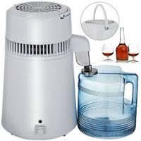 Stainless Steel Water Filter Pure Water 4L Distiller Purifier Dental Home 1L/H