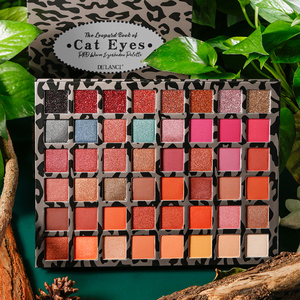 Image 5 - DELANCI Pro Warm Nude Eyeshadow Palette 48 Colors Earth Tone Natural Bronze Neutral Smoky Eye Shadows Matte Shimmer Glitter