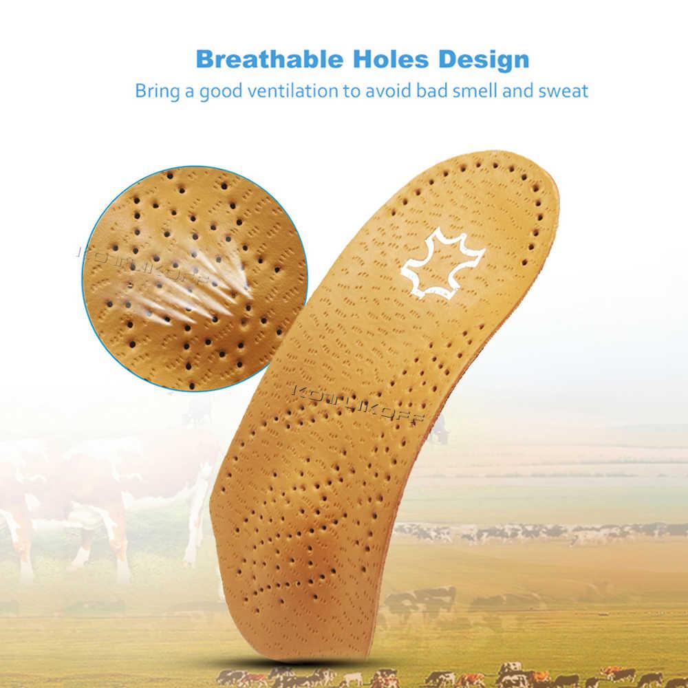 3/4 ความยาวหนัง Orthotic Insoles สำหรับ Flatfoot Heel Arch Support แผ่นครึ่ง Orthopedic รองเท้าเท้าเท้ารองเท้า Pad