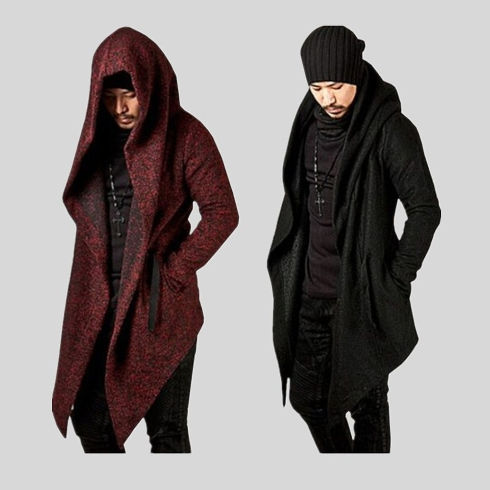 Long Jacket Men  Men Coat  Cloak Men  Gothic Jacket  Mens Overcoats