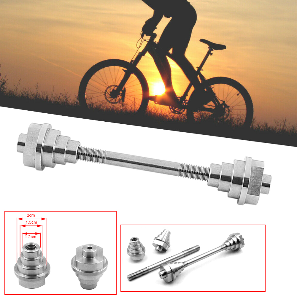 A Pair Mountain Bike Hub Shaft Solid Shaft Bicycle Front and Rear Hub Axis