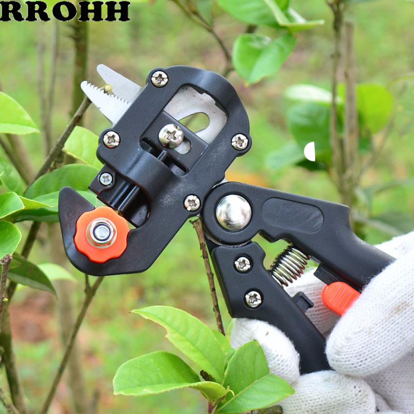 2-in-1Garden Tools Grafting Pruner Chopper Vaccination Cutting Tree Plant Shears Scissor And 3cm Graft Film Tape Dropshipping