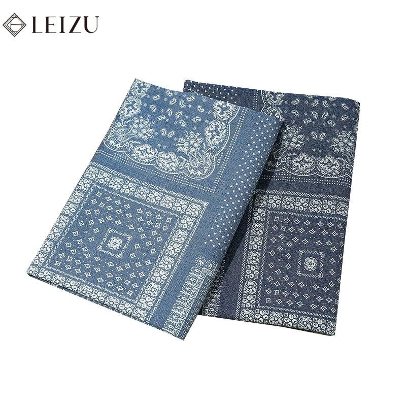 Этнические синие джинсы из хлопка мягкая ткань; Не растягивается для мытья ламината по джинсовая ткань для пошива платья и рубашки W95-TJ1718