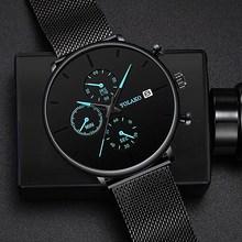 2019 Men's Business Watch Quartz Luxury Simple Blue Pointer