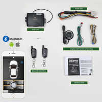 Controle de smartphone pke kit sistema alarme carro inteligente passivo automático bloqueio central porta do carro keyless botão remoto mp900a