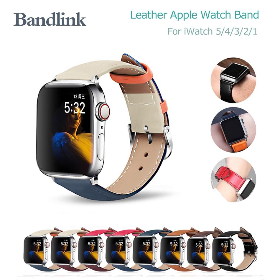 Laço de couro para apple watch 5/4/3/2/1 38mm 40mm pulseira pulseira de esportes para iwatch 5/4/3/2/1 apple watch band 42mm 44mm