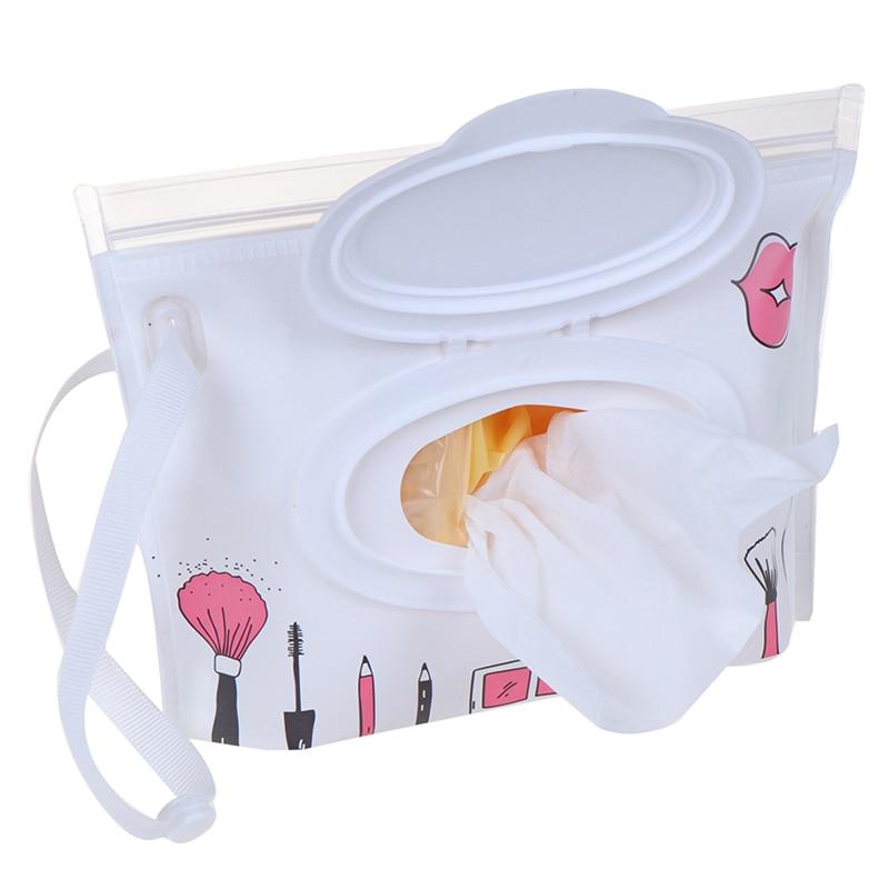 Мультфильм печати детские влажные салфетки мешок многоразовые влажные салфетки крышка контейнер для влажных салфеток уход за кожей ребенка путешествия салфетки мешок - Цвет: as pic