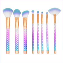 8pcs/Lot Makeup Brushes Honeycomb Type Handle Face Blush Brush Make Up Loose Powder Brush Eye Brush Cosmetic Brush Makeup Tools недорого