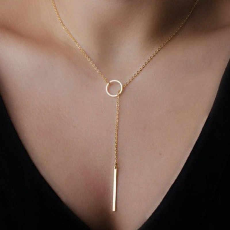 Moda alloy kobiety naszyjniki naszyjnik choker 2019 kolor złoty kryształ naszyjnik dla kobiet prezent hurtownie