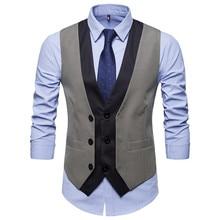 SWAGWHAT 2019 Arrival Dress Vest Men Slim Fit Men Suit Vest Male Waistcoat Gilet Homme Casual Sleeveless Formal Business Jacket