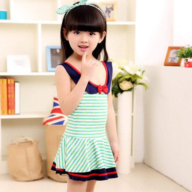 KID'S Swimwear One-piece Swimsuit For Children GIRL'S Swimsuit Korean-style Princess KID'S Swimwear Girls Big Boy