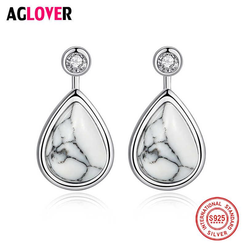 Luksusowa marka gorąca sprzedaż 925 srebro kolczyki moda krople wody/łzy wisiorek kolczyki dla kobiet biżuteria dziewczęca prezenty